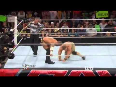 CM Punk does a PILEDRIVER to Cena