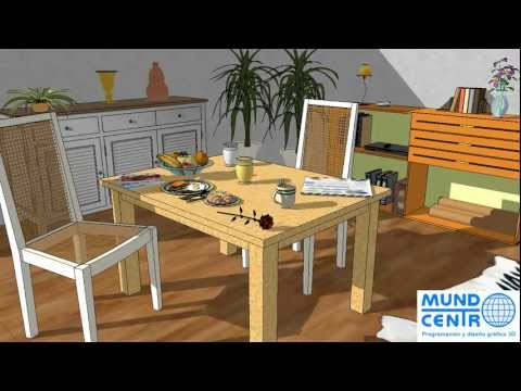 Renders programa dise o muebles doovi for Programas de interiorismo