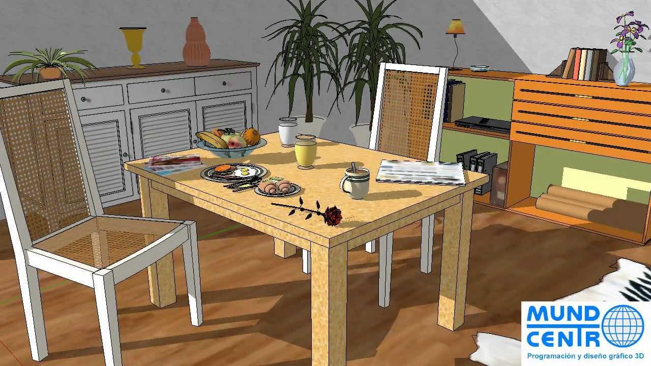 Curso sketchup para interiorismo y decoraci n youtube for Curso decoracion e interiorismo
