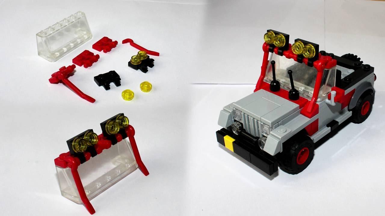 Lego Jeep Wrangler From Jurassic Park Instructions Youtube