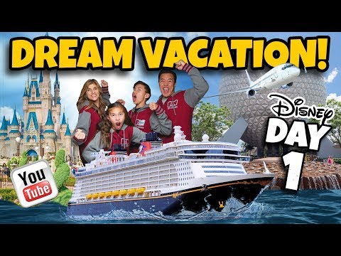 DISNEY DREAM VACATION Cruise Week & Disney World with rs DAY 1