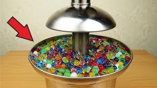 Фонтан из орбиз, меда, киселя и пенопластовых шариков!