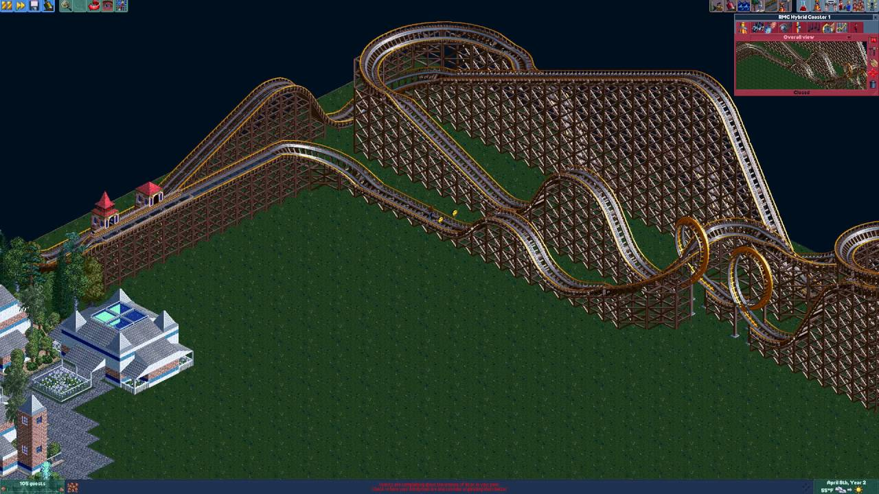 RCT2: The 8-Bit Park #1 - Beginning The Entrance and Our First Roller  Coaster