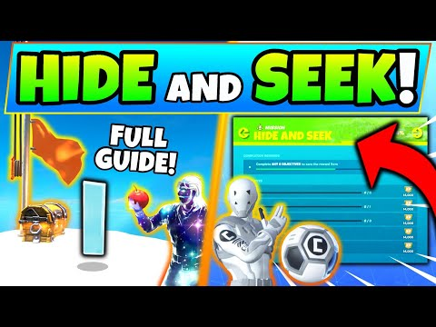 Fortnite HIDE AND SEEK CHALLENGES GUIDE! - Foraged Items, Hidden I, (Hunter And The Hunted)