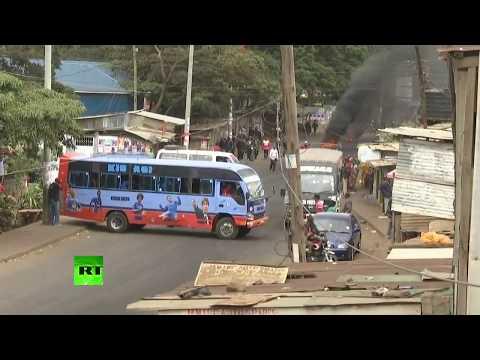 Manifestation de l'opposition kényane dans le bidonville de Kibera, à Nairobi