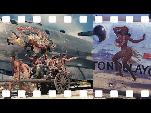 Nose art painted on WWII Military Airplanes