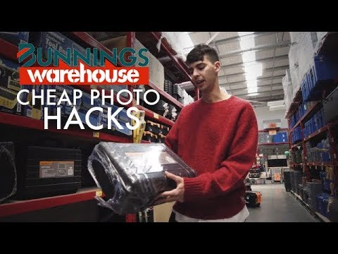 7 Cheap Hardware Store Photography Items! (BUNNINGS WAREHOUSE Photo Hacks)