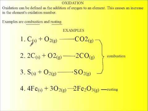 Siba Learning Zone Oxidation Addition Of Oxygen Youtube
