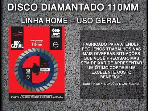 Disco Diamantado 110mm - Uso Geral - Turbo - Linha Home Center