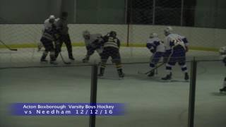 Acton Boxborough Boys Ice Hockey vs Needham 12 12 16