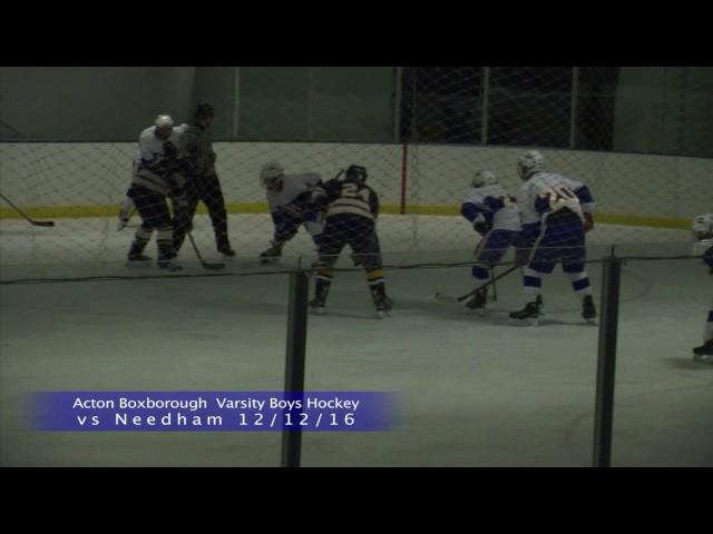 Acton Boxborough Boys Ice Hockey vs Needham 12 12 16