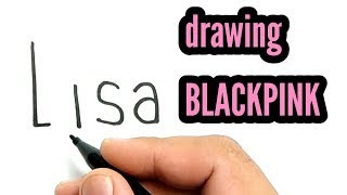 VERY EASY ! How to turn words LISA into LISA BLACKPINK FACES / how to draw lisa