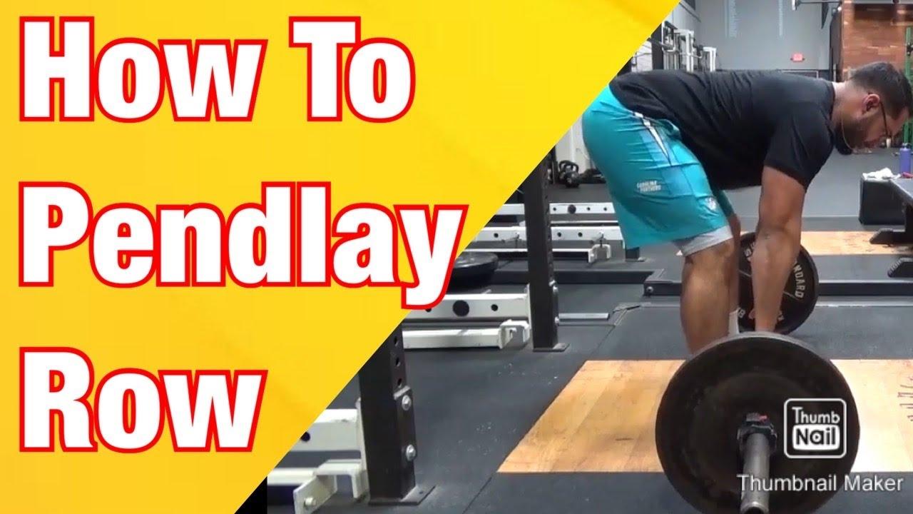 How To: Pendlay Row - YouTube