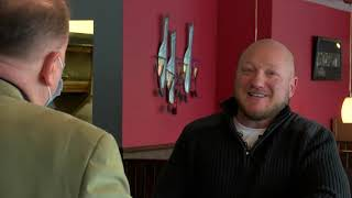 Sen. Runestad visits Dave and Amy's in White Lake