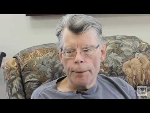 "Stephen King talks about his new book, ""Revival"", during an interview with the Bangor Daily News."