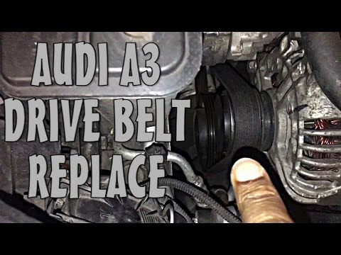 Audi A3 Drive Belt Replace Check Inspect Works On Other