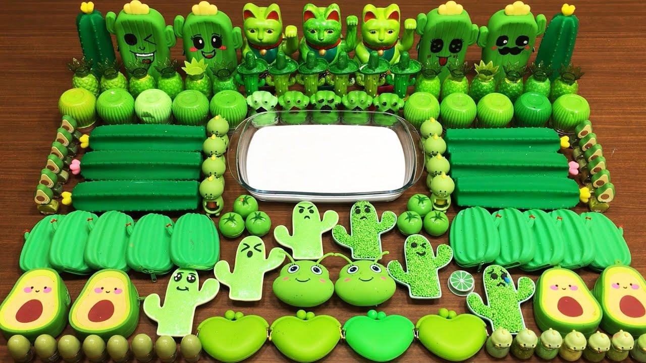 CACTUS Slime! Mixing Random Things into GLOSSY Slime ! Satisfying Slime #245