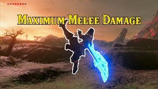 [Zelda Breath of the Wild] What is the MOST melee damage possible?