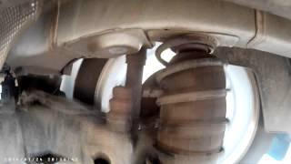 Citroen C-Elysee - работа задней подвески с пневмобаллонами