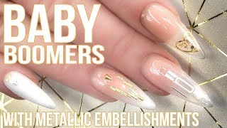 Baby Boomer Full Look - With Encapsulated Metallic Embellishments