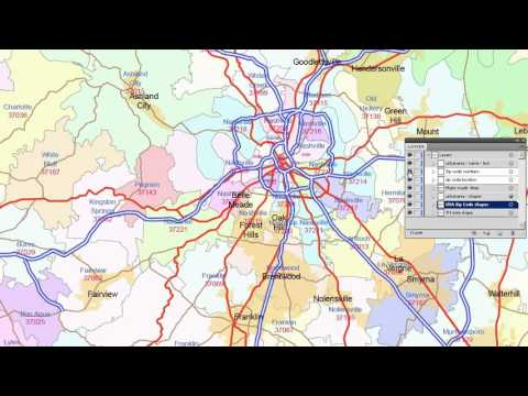 Tennessee zip code map, 2015