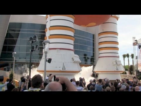 Space Shuttle Atlantis exhibit opening ceremony at Kennedy Space Center Visitor Complex