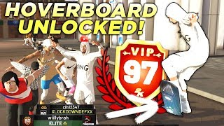I GOT 97 OVERALL WITH A PURE SHOT CREATOR! HOVERBOARD REWARD REACTION in NBA2K19!