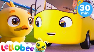 FIVE Little Ducks! | Lellobee: Nursery Rhymes & Baby Songs | Learning Videos For Kids