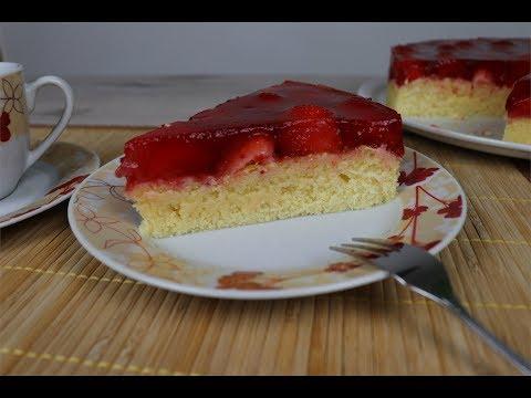 торт из желе с клубникой рецепт пошагово