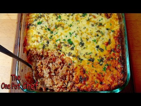 Bolognese Rice Bake | One Pot Chef