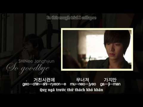 SHINee Jonghyun - So Goodbye (Music Video) [EngSub + VietSub]