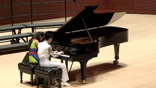 Polonaise op. 40 no. 1 in A major, Chopin;  Hungarian Dance No. 5, Brahms - Piano Four Hands