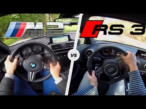 BMW M2 vs Audi RS3 | Acceleration Sound Exhaust POV Test Drive Launch Control