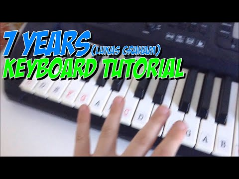 How to play 7 years ( Lucas Graham )  intro on the keyboard!
