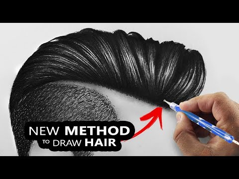 how-i-draw-hairs-so-easily-|-new-technique-2019