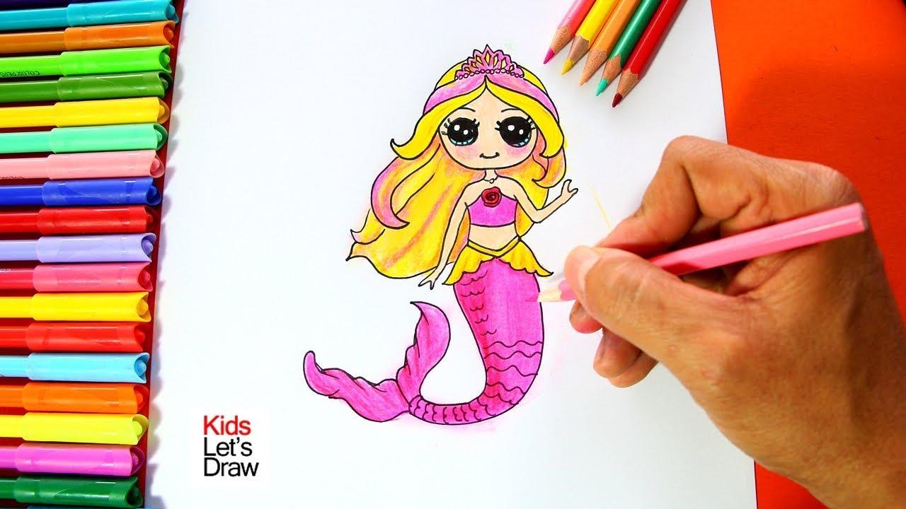 Cómo dibujar a la Barbie Sirena | How to draw Barbie Mermaid - YouTube