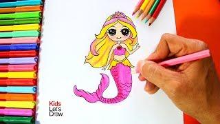 Cómo dibujar a la Barbie Sirena | How to draw Barbie Mermaid