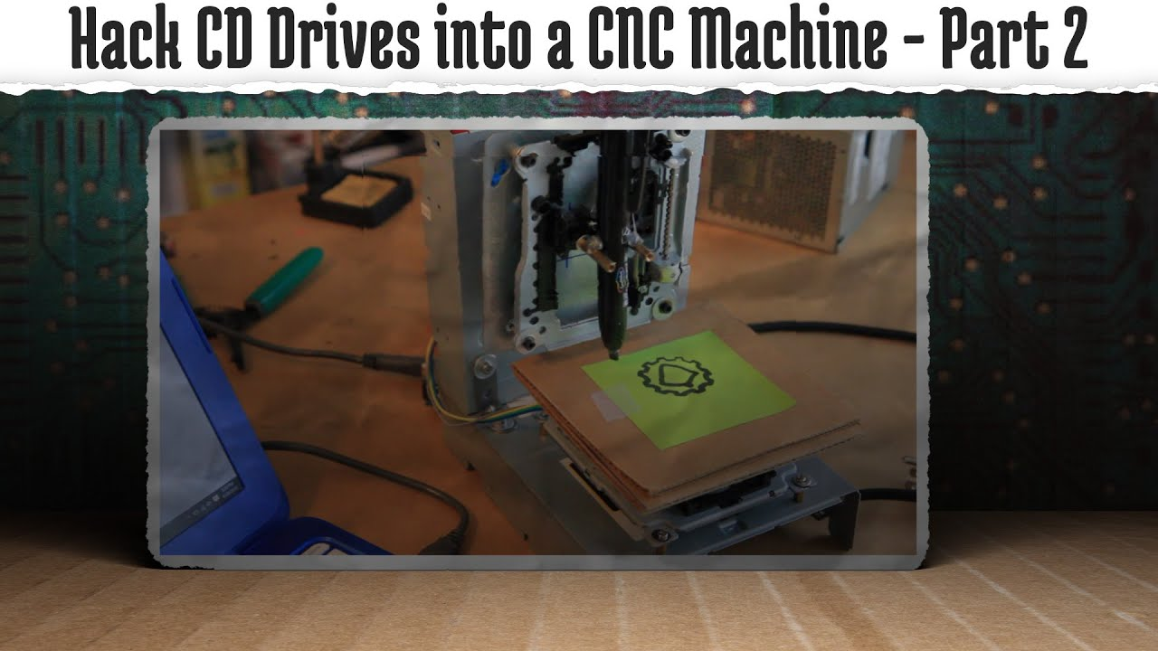 Hack old CD-ROM's into a CNC Machine | Tinkernut Labs | The