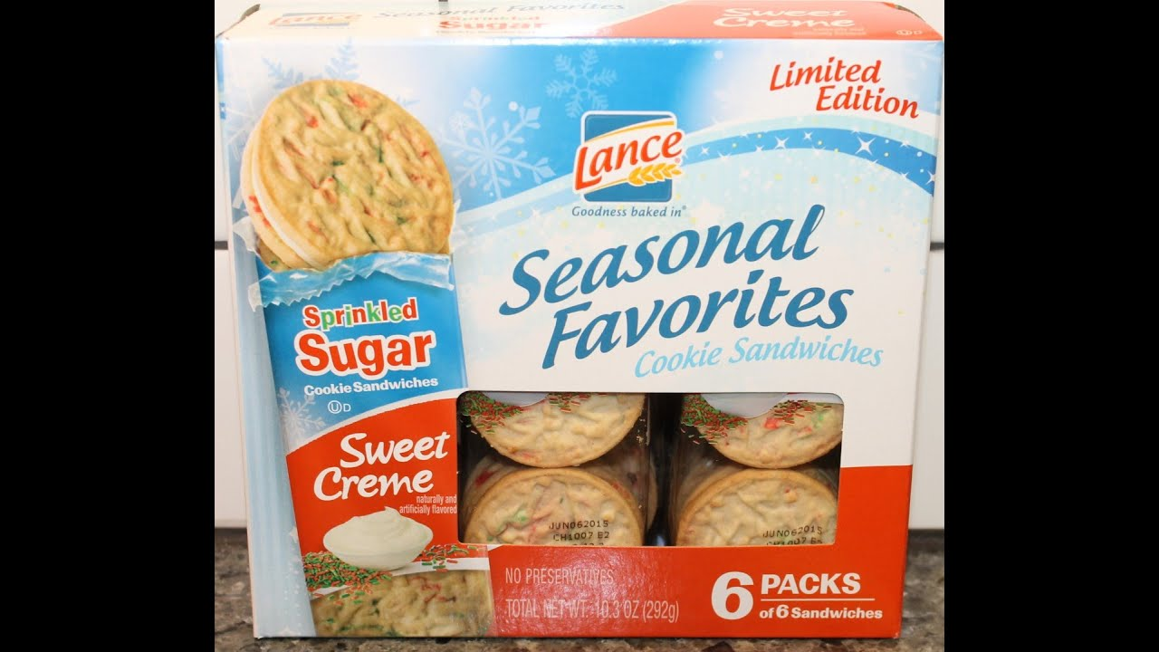 Lance Nekot Sweet Creme Sprinkled Sugar Cookie Sandwich Review