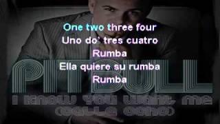 Pitbull I Know You Want Me Calle Ocho Karaoke On Screen Lyrics