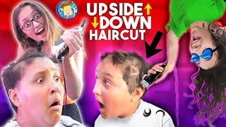 UPSIDE DOWN HAIRCUT! Omg! BAD IDEA! (FV Family Funny Fail Vlog)