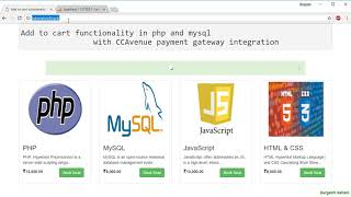 Ecommerce website project in php and mysql: Add item to cart part2