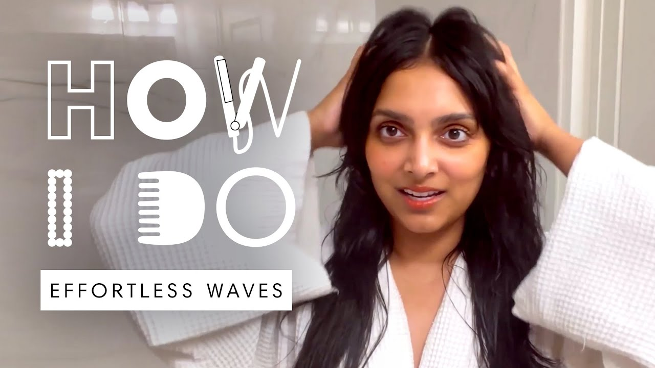 Deepica Mutyala's Effortless Loose Waves Hair Tutorial | How I Do | Harper's BAZAAR