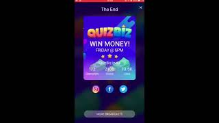 QuizBiz Live Trivia | Win Real Cash | 9th Jan 2018 | Live.me India