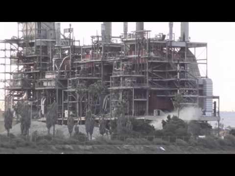 South Bay Chula Vista Power Plant Implosion Demolition 2-2-2013