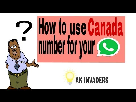 How To Use CANADA/FOREIGN Number For Whatsapp.