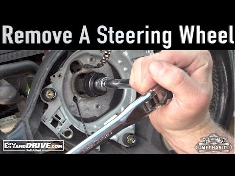 How To Remove a VW Steering Wheel ~ Salvage Yard Tips