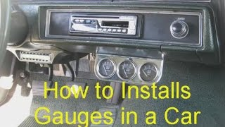 How to install gauges in a car