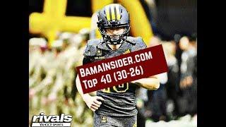 Alabama Football  Top 40 Players (30-26)