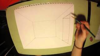 1 point perspective room door window
